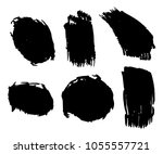 collection of hand drawn black... | Shutterstock .eps vector #1055557721