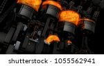 cg model of a working v8 engine ... | Shutterstock . vector #1055562941