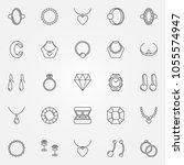 jewelry icons set   vector... | Shutterstock .eps vector #1055574947