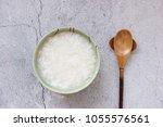 chinese cuisine white porridge | Shutterstock . vector #1055576561