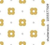 seamless gold glitter stamp... | Shutterstock .eps vector #1055577509