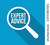 expert advice word magnifying... | Shutterstock .eps vector #1055580581