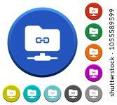 ftp link round color beveled... | Shutterstock .eps vector #1055589599
