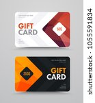 vector gift card template with... | Shutterstock .eps vector #1055591834