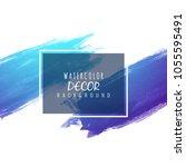 abstract modern shiny blue... | Shutterstock .eps vector #1055595491