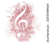 abstract musical background...   Shutterstock .eps vector #1055598464