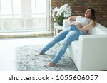 woman with a thick figure   | Shutterstock . vector #1055606057