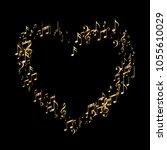 shimmering confetti heart of... | Shutterstock .eps vector #1055610029