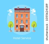 hotel service bright poster... | Shutterstock .eps vector #1055624189
