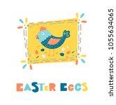 vector easter greeting card... | Shutterstock .eps vector #1055634065