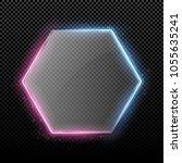 transparent hexagonal glass... | Shutterstock .eps vector #1055635241