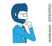 avatar businessman icon | Shutterstock .eps vector #1055639531
