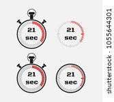 timer 21 seconds on gray... | Shutterstock .eps vector #1055644301