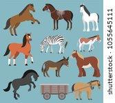 horse vector animal of horse... | Shutterstock .eps vector #1055645111