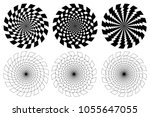 Black And White Spirals Of The...