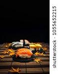 fresh sushi traditional...   Shutterstock . vector #1055652215