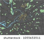 manchester vector map with dark ... | Shutterstock .eps vector #1055653511