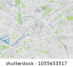 vector city map of manchester... | Shutterstock .eps vector #1055653517