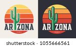 arizona t shirt design  print ... | Shutterstock .eps vector #1055666561