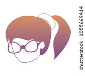avatar woman icon | Shutterstock .eps vector #1055669414