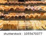 bakery bread pastry sweets...   Shutterstock . vector #1055670377