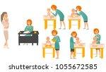 pediatrician doctors and baby...   Shutterstock .eps vector #1055672585