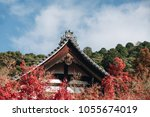 roof of japanese temple ... | Shutterstock . vector #1055674019