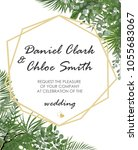 wedding invitation  rsvp modern ... | Shutterstock .eps vector #1055683067