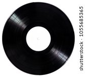 black vinyl record disc with... | Shutterstock . vector #1055685365