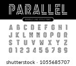 vector of modern alphabet... | Shutterstock .eps vector #1055685707