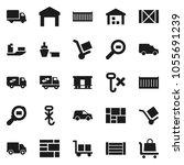 flat vector icon set   ship... | Shutterstock .eps vector #1055691239