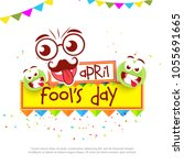 illustration of celebrating... | Shutterstock .eps vector #1055691665
