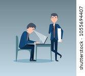 cartoon businessman design | Shutterstock .eps vector #1055694407