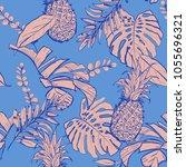 trendy vector seamless... | Shutterstock .eps vector #1055696321