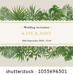 wedding invitation  rsvp modern ... | Shutterstock .eps vector #1055696501
