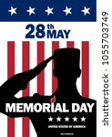 memorial day usa. may 28  2018. ... | Shutterstock .eps vector #1055703749