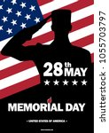 memorial day usa. may 28  2018. ... | Shutterstock .eps vector #1055703797