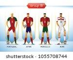 soccer or football team 2018...   Shutterstock .eps vector #1055708744