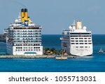 Small photo of Cruise ships moored in Nassau, the capital of The Bahamas.