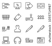 flat vector icon set   comments ... | Shutterstock .eps vector #1055714987