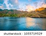 nuku hiva  french polynesia.  | Shutterstock . vector #1055719529