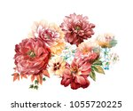 flowers carry the scent of... | Shutterstock . vector #1055720225