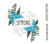 spring background arts | Shutterstock .eps vector #1055720759