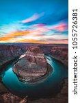 horseshoe bend sunset | Shutterstock . vector #1055726381