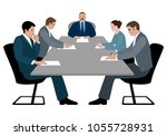 business meeting and business... | Shutterstock .eps vector #1055728931