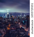 new york rooftop views | Shutterstock . vector #1055729351