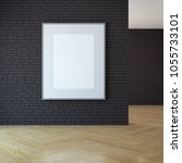 blank picture on the wall  3d...   Shutterstock . vector #1055733101