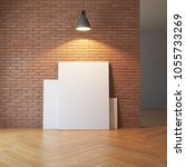 blank pictures on the brick...   Shutterstock . vector #1055733269