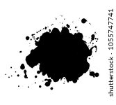 abstract black ink blot... | Shutterstock .eps vector #1055747741