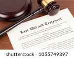 last will and testament on... | Shutterstock . vector #1055749397